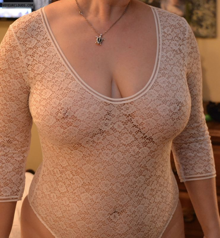 breasts, big tits, bodysuit, lace suit, see thru