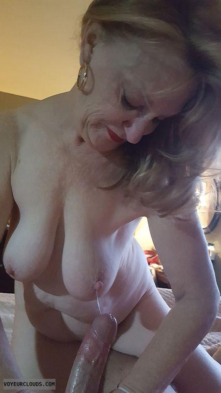couple sex, Wife sex, tits, cum, handjob, hard nipples