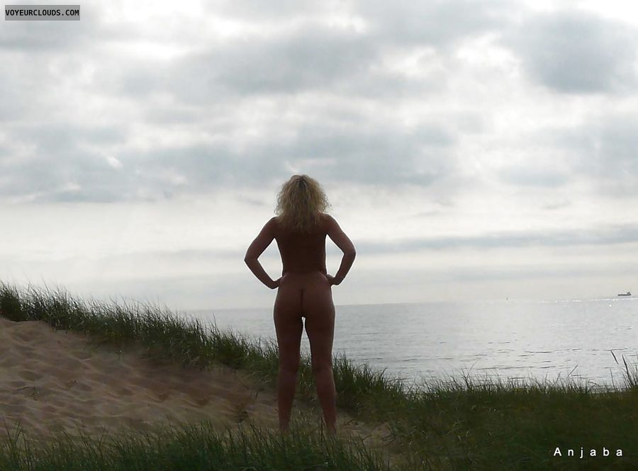 Nudism, FKK, Milf, Anja, Beach, Blonde, Nude Wife