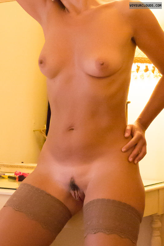 pussy lips, nude wife, small tits, hard nipples
