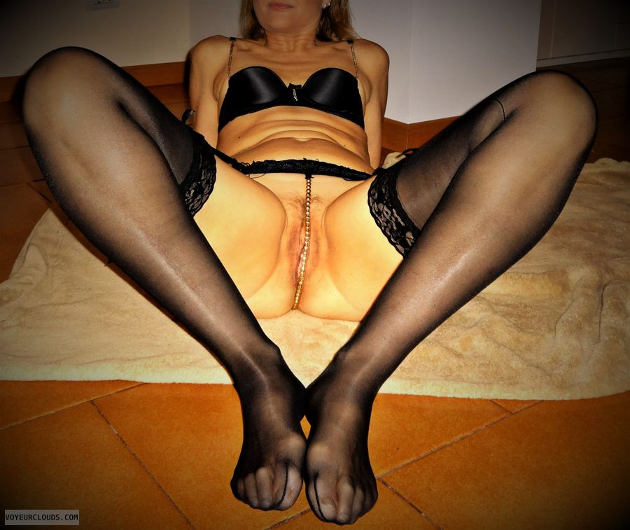 anna, wife, spread, garters, lingerie, stockings, pussy