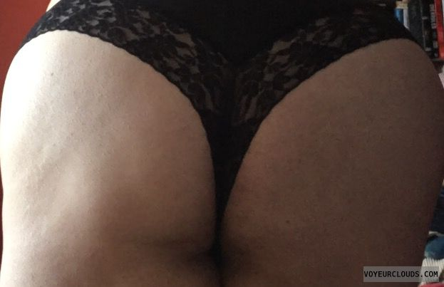 big ass, lace panties, thong, round ass, black thong
