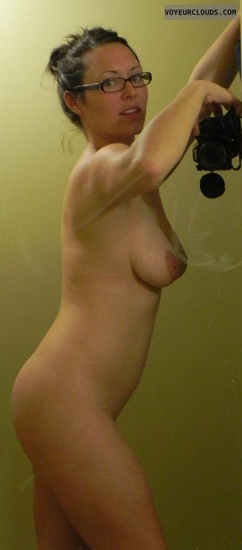 Nude selfie, Brunette, Big tits
