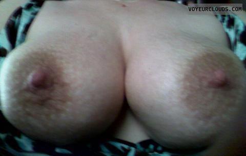 Nice tits, huge nipples, firm tits