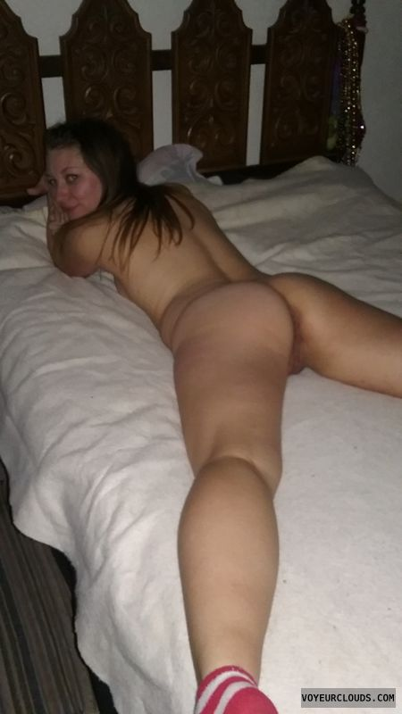spread, legs, ass, pusssy, on bed