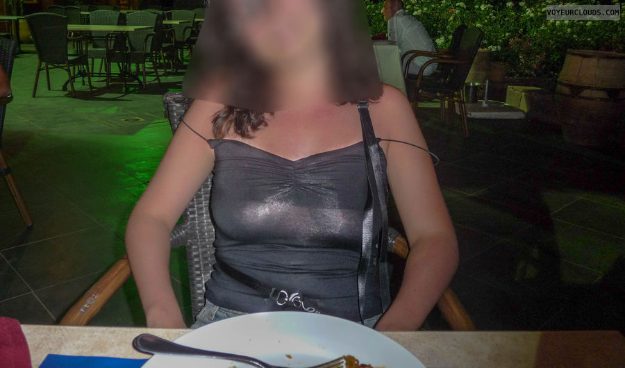 exhibition, restaurant, transparent, nipple, tits
