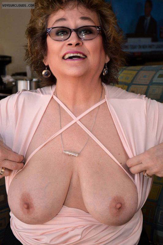 Big tits, Sexy smile, milf, hotel, glasses