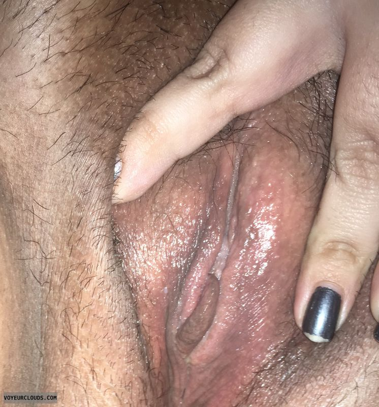 wet pussy, hairy pussy, growing out my hair, open pussy