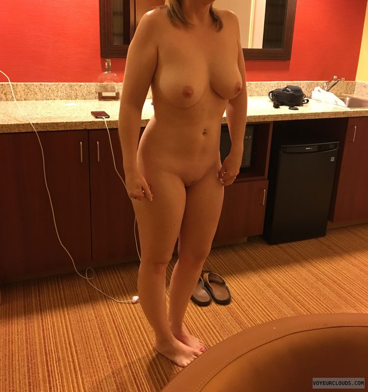 Nude wife, nice tits, shaved pussy, hot, blonde, milf