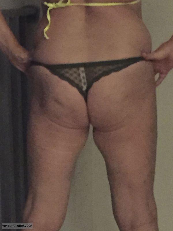 round ass, round butt, lace thong, teasing