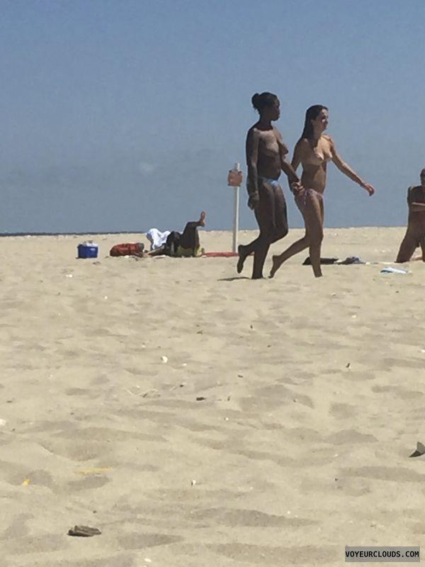 topless, perky tits, hard nipples, beach pic