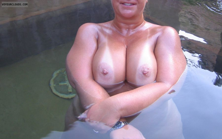 Boobies, Cleavage, Tanilnes, Cold Nipples, Public Pool Nudity