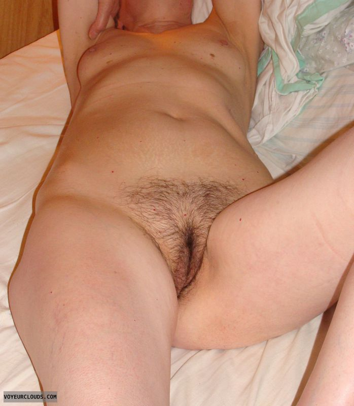 mature wife, sexy, waiting, bed, nude, naked, small tits