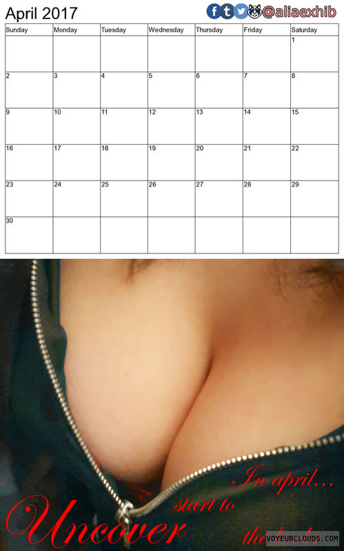 calendar, cleavage, breast, boobs