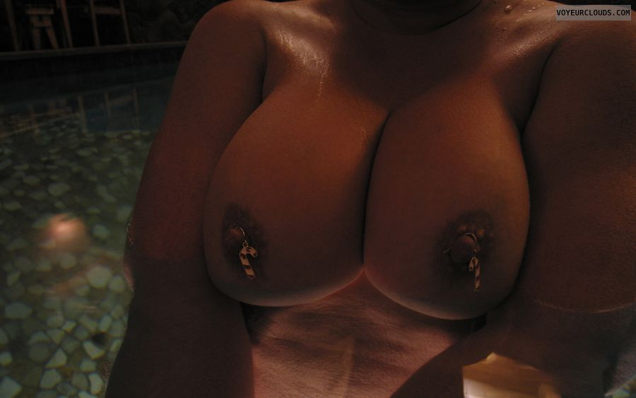 Boobies, Cleavage, Nipple Art, Public Pool