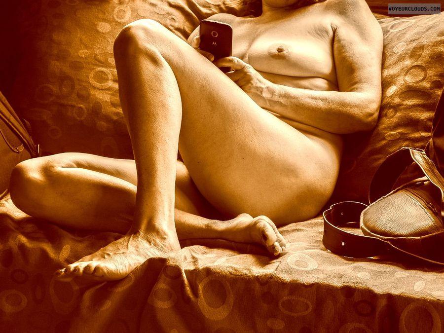 mature tits, tits, voyeur, wife tits, feet, legs, nude wife