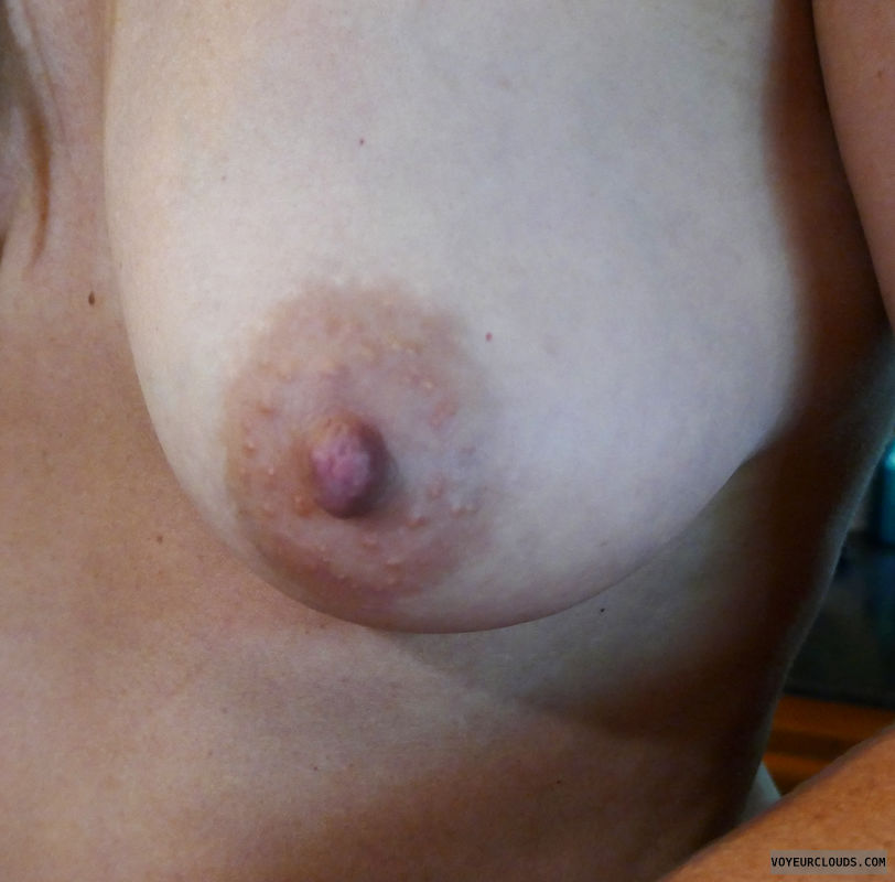 Boob, tit, breast, areola, puffy