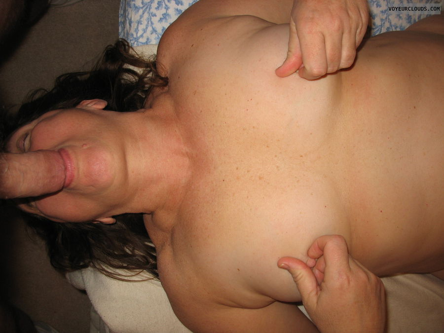 sucking, blowjob, nipples, nipple play, mature, MILF