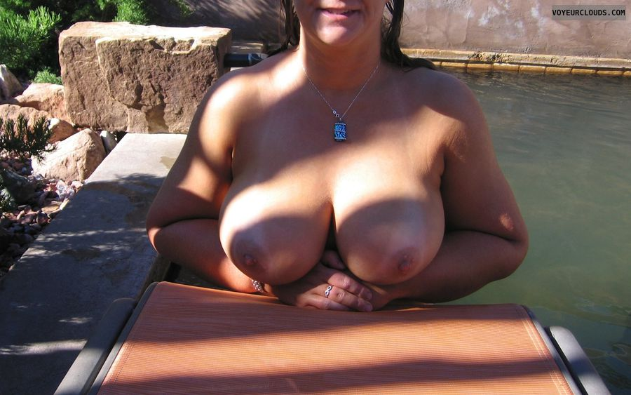 Boobies, Cleavage, Cold Nipples, Big Nipples, Outdoor Nudity