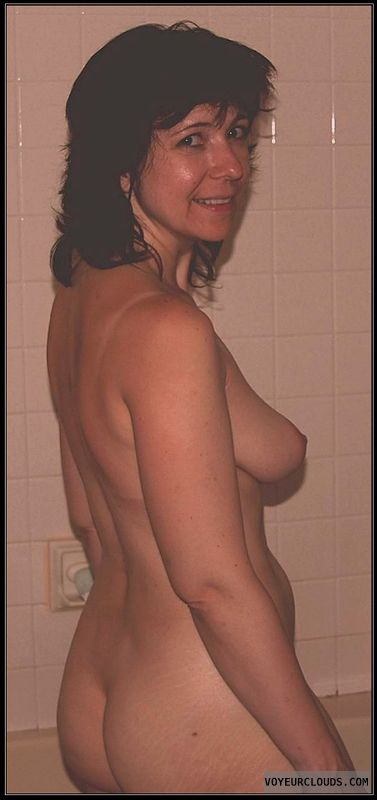 Big Ass, Small tits, Shower, Milf, Nude woman