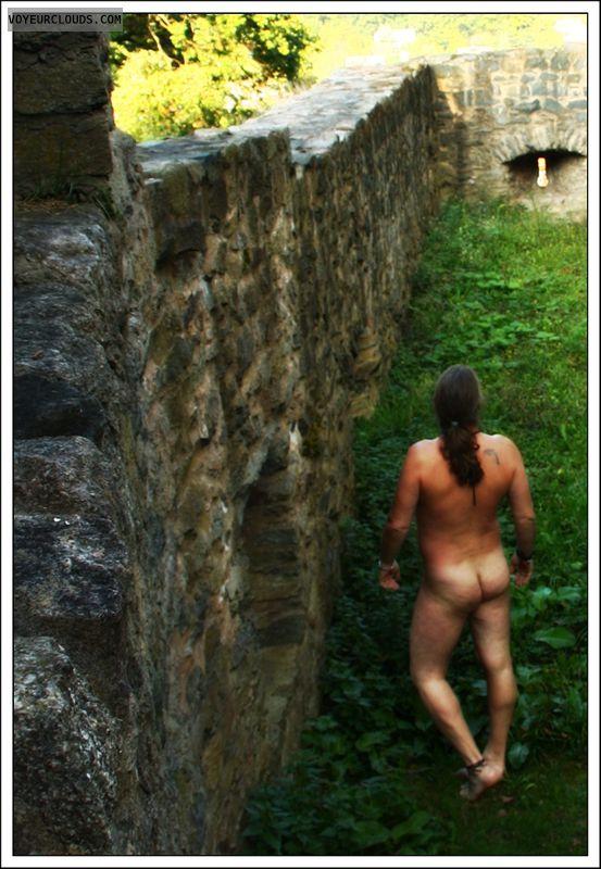 nude outdoor, nude male, male, public