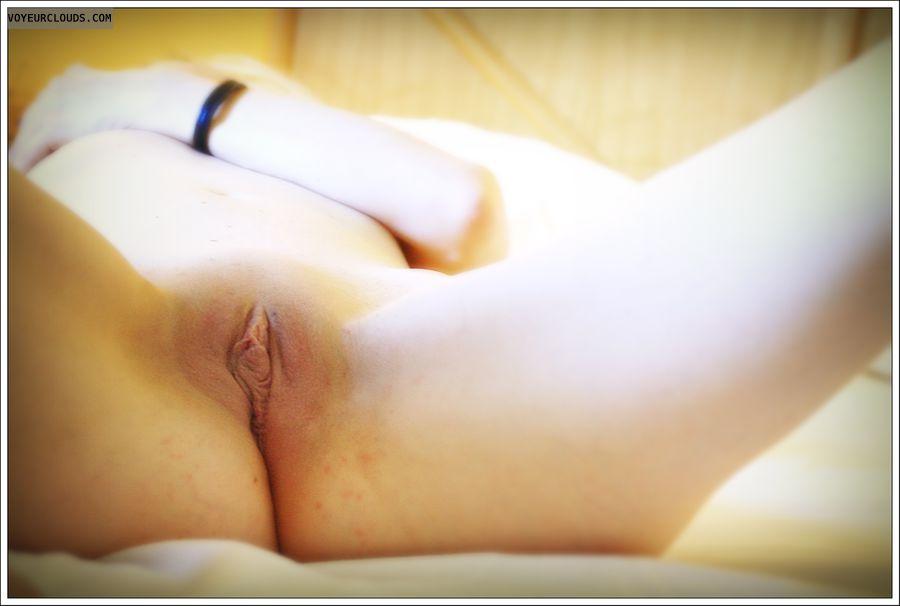shaved pussy, spread, long legs, milf, lips, labia
