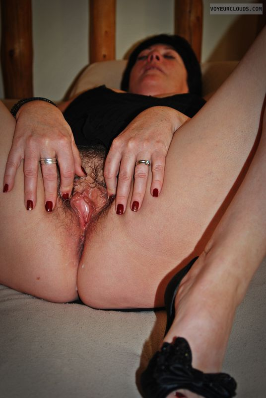 wet, hairy, pink, MILF, spread, ready, Come Fuck Me