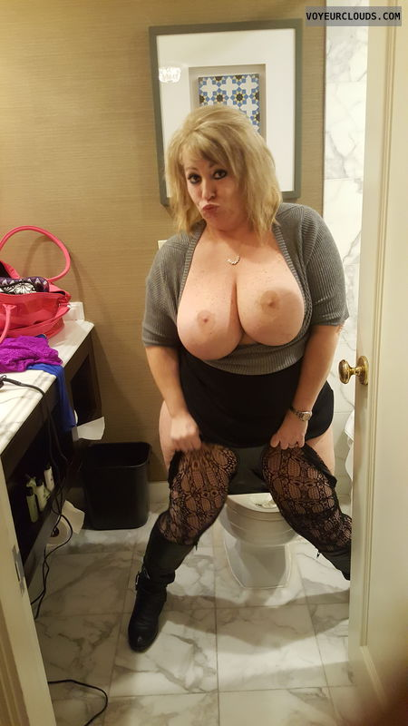milf, sexy, blond, hotel, stockings, fishnets, wide