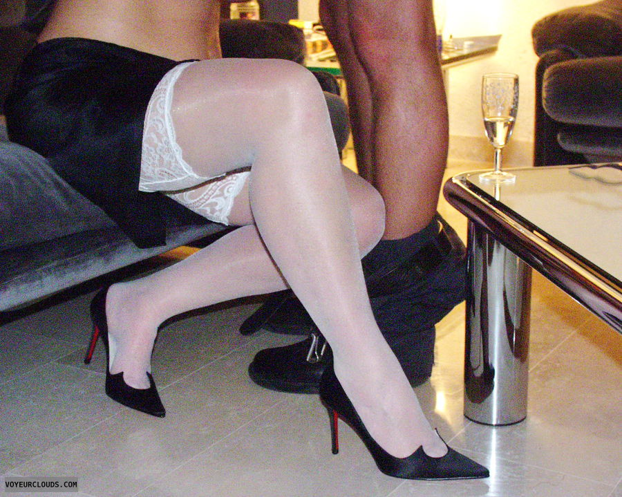fuck me high heels, FMH, stockings, long legs, Bj
