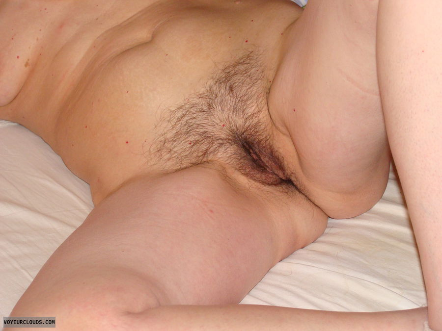 mature wife, exposed, naked, bush