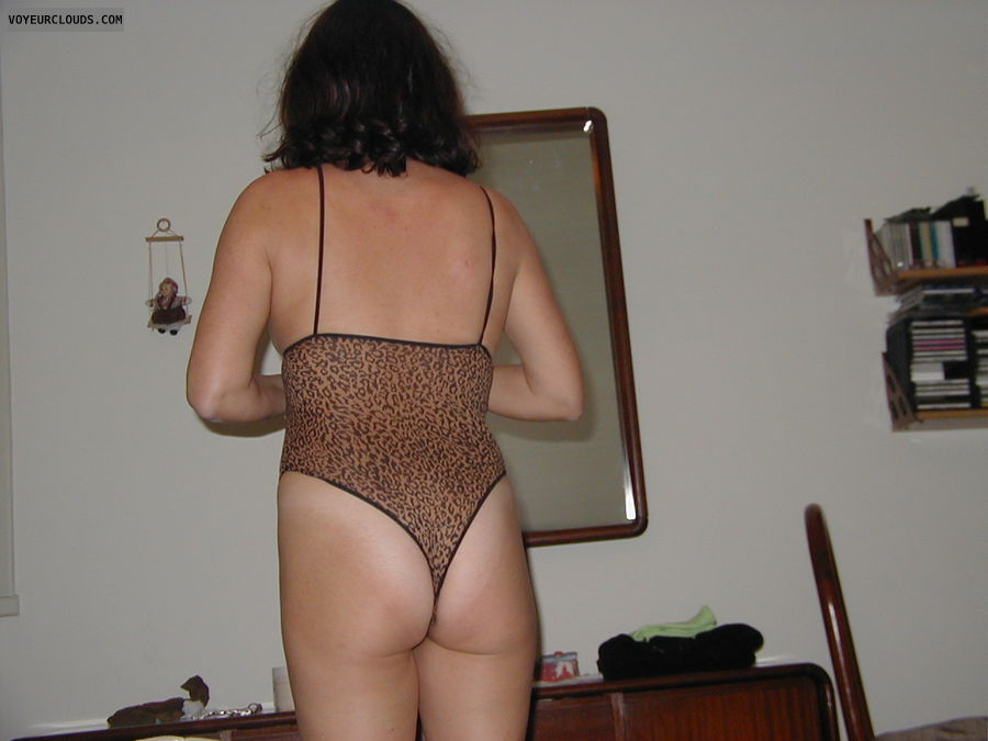 wife ass, wife butt, thong, teasing, back view