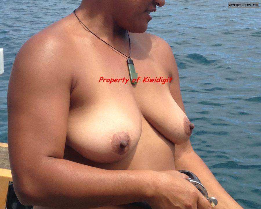 Tits Out, Tits, Topless Fishing, Topless, Hard Nipples