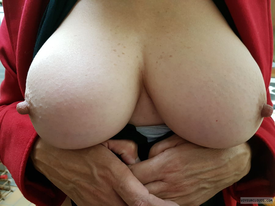 Tits out, Mothers Day, Big boobs, Long nipples, Thick nipples
