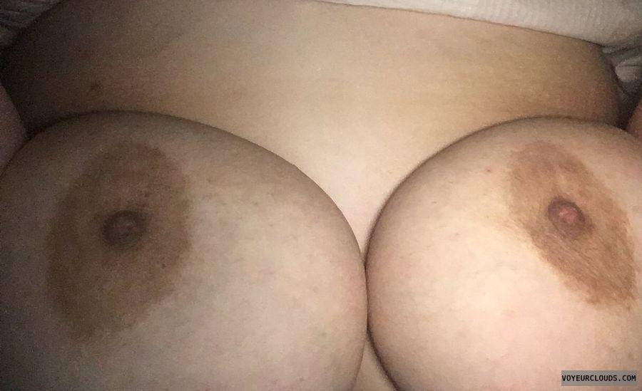morning boobs, big tits, big boobs, nipples, in bed