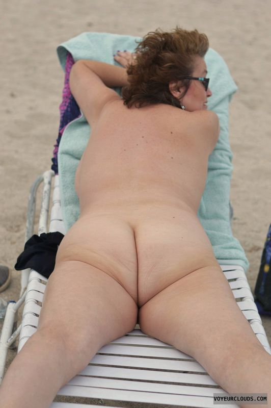 Ass, sexy smile, Nude, nude beach, Haulover Beach