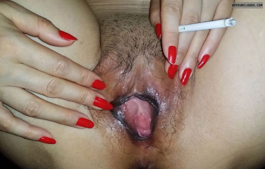 dark labia, pussy, asian, whore, cunt, smoking