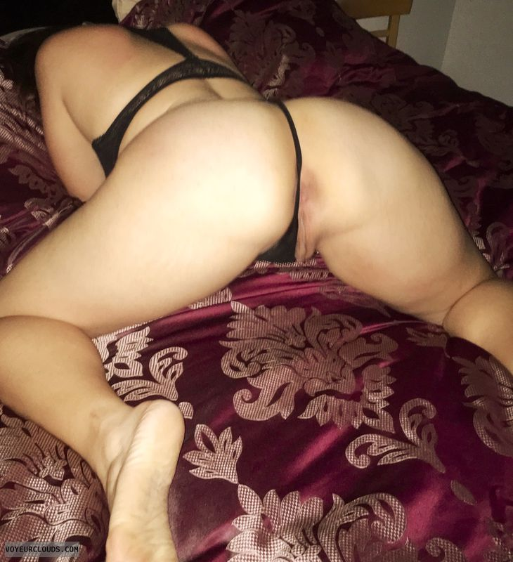 Milf, Mom, ass, booty, gstring, g string, black panties