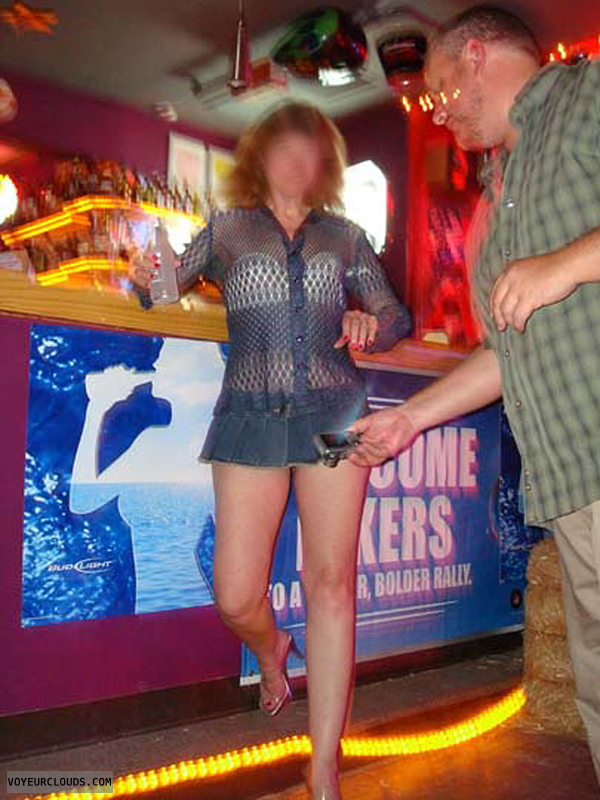 Exhibitionist, Lifestyle, Flashing, Voyeur, Denim Skirt