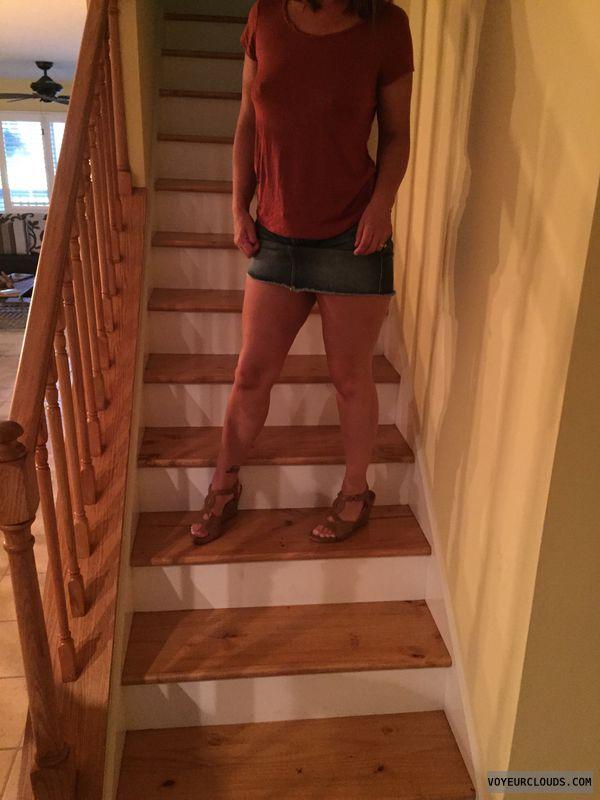 Milf, non nude, skirt, heels, wedges, sexy legs, milf legs
