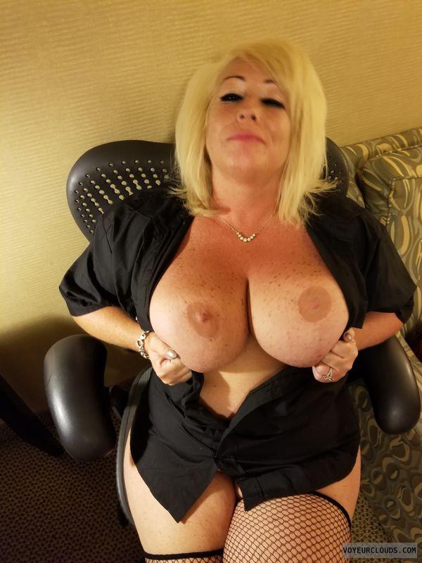 Milf, Sexy, Hotel, Fish nets, Lingerie, Big tits, Boobs