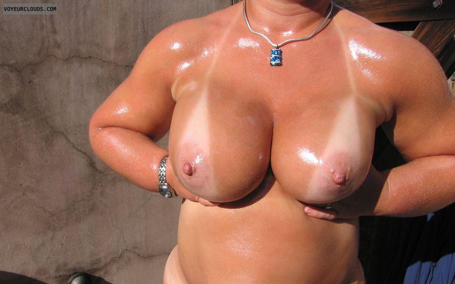 Big Tits, Boobies, Cleavage, Outdoor Nudity, Tanlines