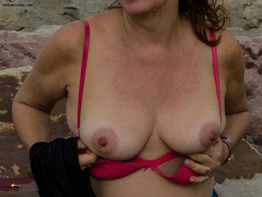 nude wife, tits, mature tits