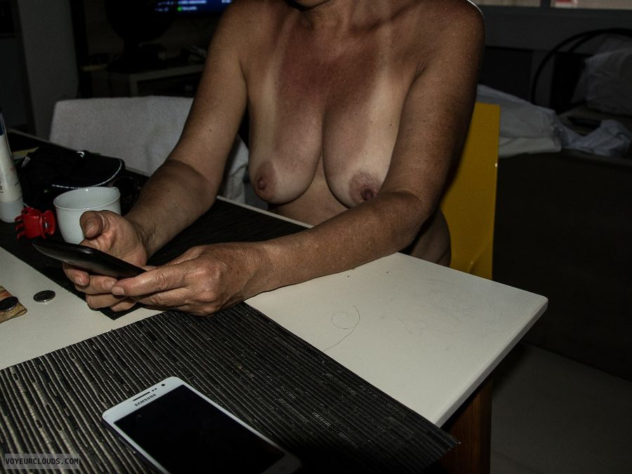 nude wife, tits