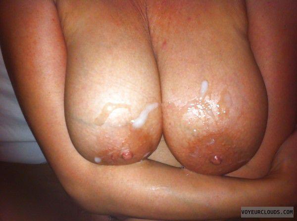 tits, nipples, cum, slut