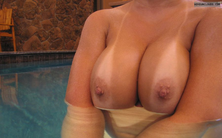 Boobies, Cleavage, Tanlines, Public Pool, Cold Nipples