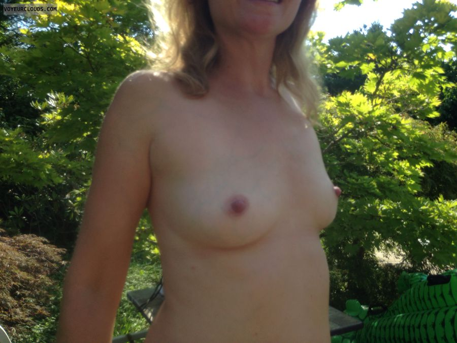 Small tits, small boobs, hard nipples, milf tits, topless