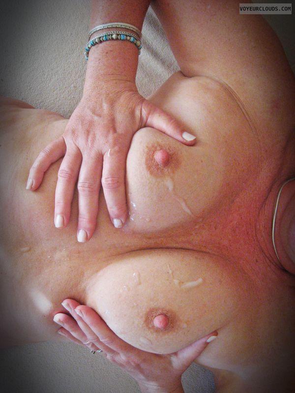 MILF Tits, Painted tits, hard nipples