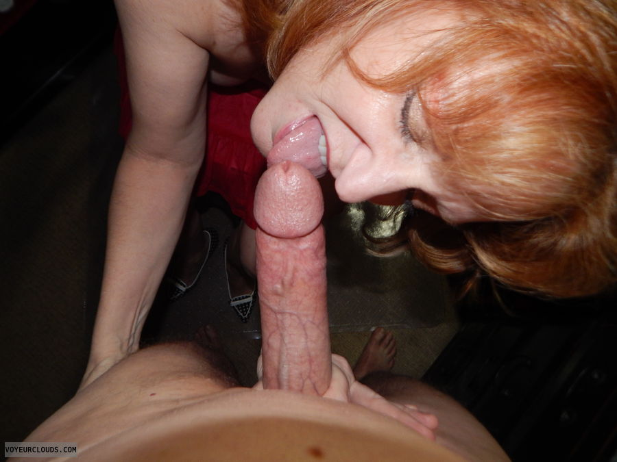 Blowjob, Wife, Open mouth