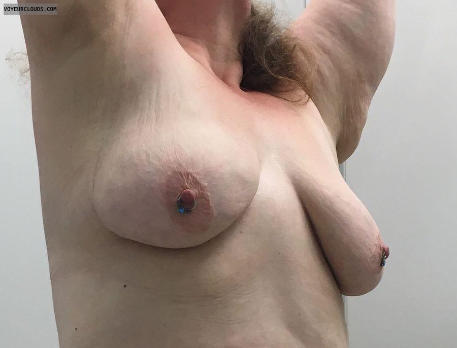 Pierced Nipples, Boobs, Tits, Milf, Wife