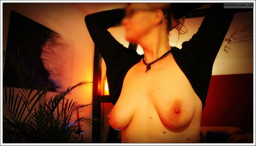small tits, nipples, nude wife, milf